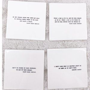RH Ralph W Emerson/Dorothy Parker Quote Coasters~4